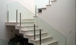 Corrimão de escada de vidro temperado