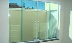 Instalação de vidro temperado