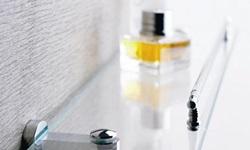 Prateleira de vidro para banheiro