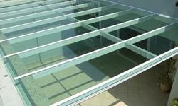 Telhado de vidro temperado