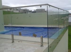 corrimão de inox para piscina