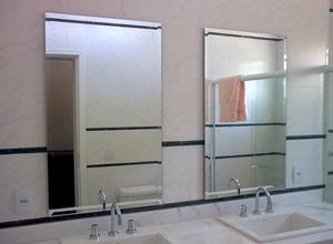 espelho e vidro