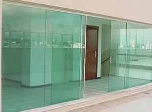fechamento de vidro
