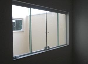 janelas de vidro de correr