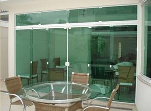 porta de vidro de blindex