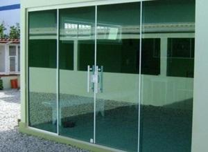 portas em vidro