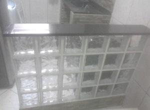 tijolo de vidro tamanho
