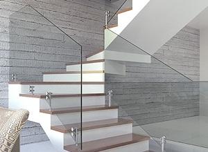 vidro na escada