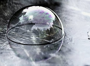 vidro na natureza