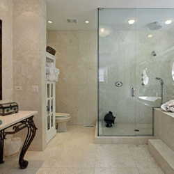 banheiro de vidro