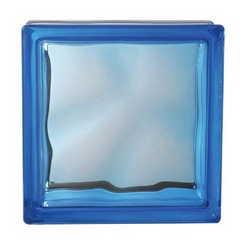 bloco de vidro azul