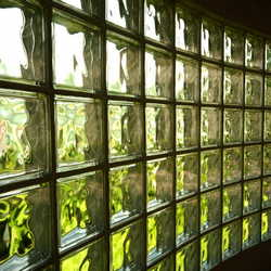 bloco de vidro canelado