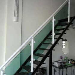 corrimão de escada blindex