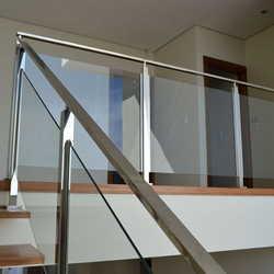 corrimão de escada inox