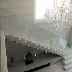 corrimão de vidro