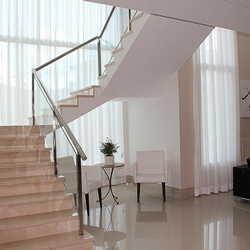 corrimão de vidro escada