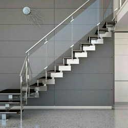 corrimão escada inox