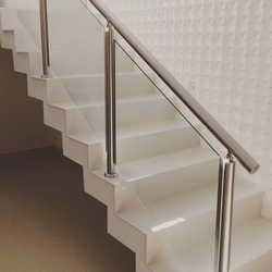 corrimão inox escada