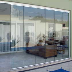 cortina porta de vidro
