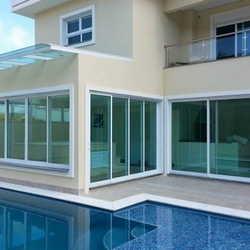 janelas é portas de vidro temperado