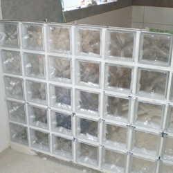 tijolo de vidro medidas